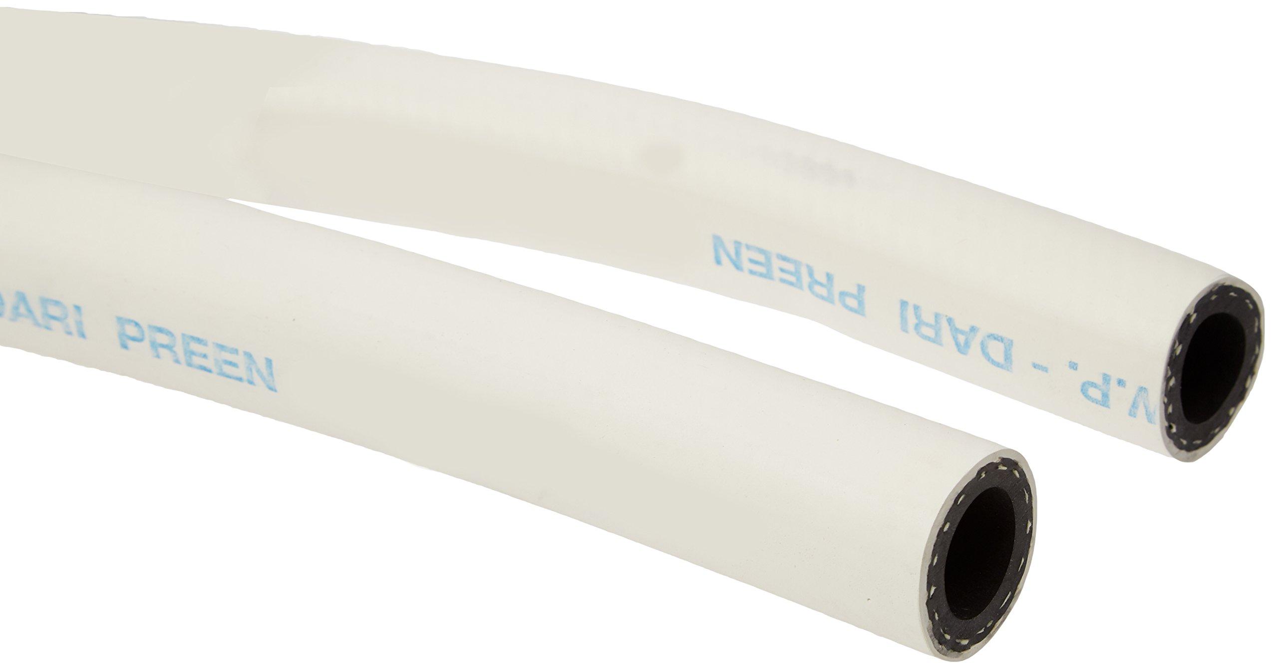 Thermoid 00544812450 EPDM Flex Strength Dari-Preen Creamery Hose, 200 psi Maximum Pressure, 50' Length, 3/4'' ID, White