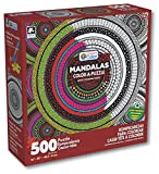Karmin International Color a Puzzle - Mandalas Meditation Circle Design Puzzle (500 Piece)
