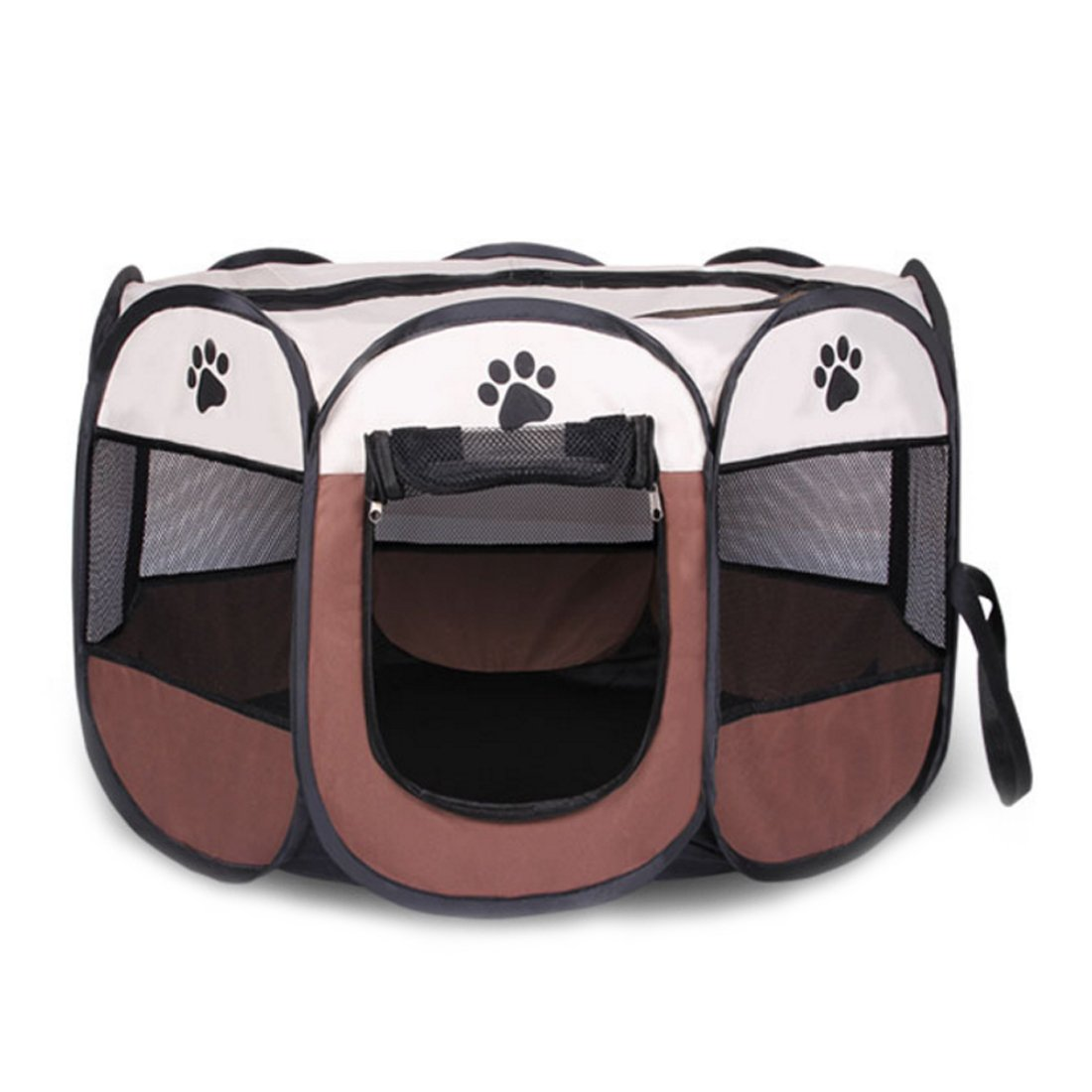 HMANE Foldable Pet Playpen Dog Cat Tent Fence Portable Pet Cage Exercise Fence Kennel