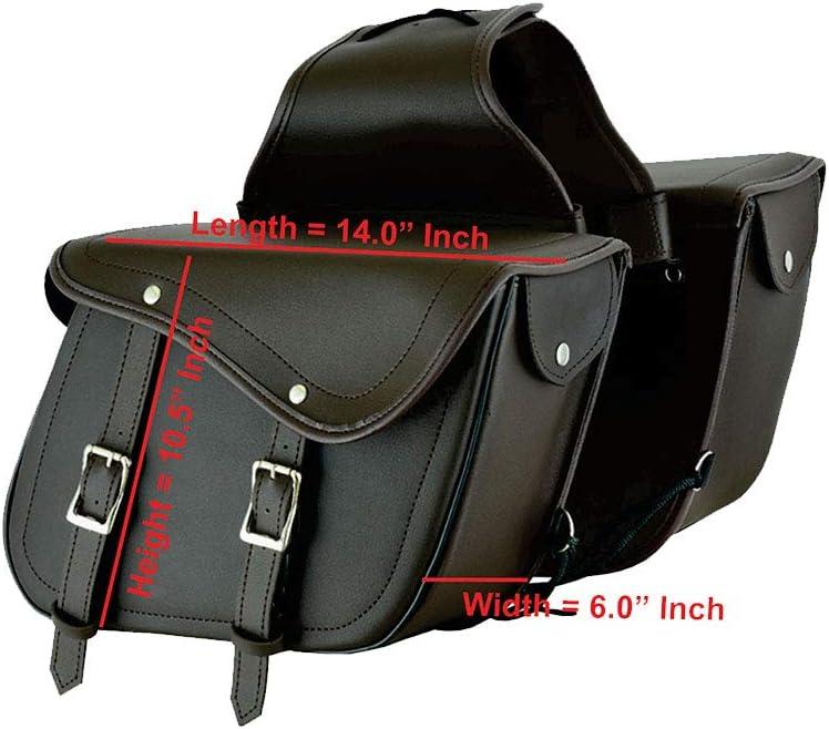 /équipement de Stockage Organisateur si/ège Pack Sacoche /étanche bo/îte de Rangement Marron Moto Moto Sacoche en Cuir