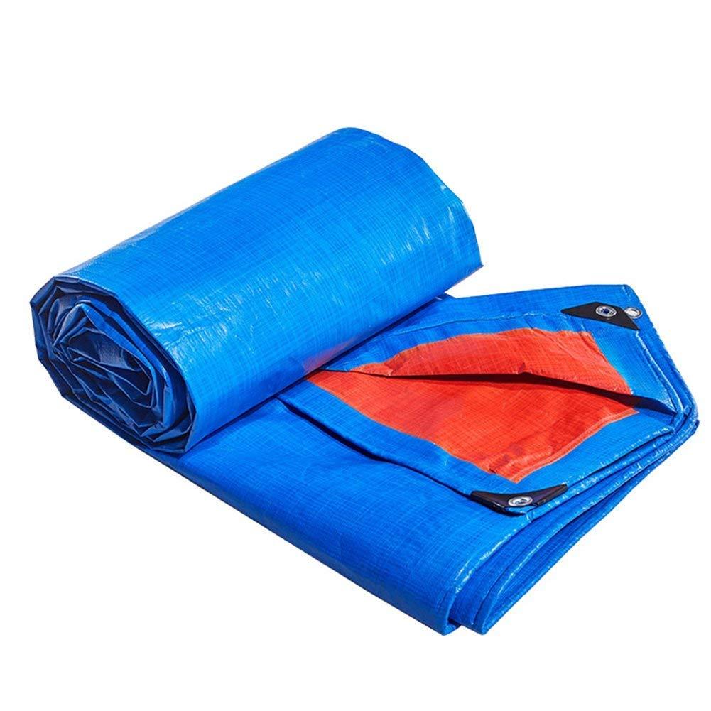 SSYBDUAN Plane, Harte schützende Segeltuch-Wasserdichte und staubdichte Blaue Starke Polyäthylen, passend für die Gartenarbeit, LKWas, Stärke 0.38MM (5m X 7m) (Farbe   -, größe   4m x 6m)