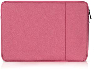 BAKUN Shockproof 15.6 inch Tablet/Laptop Sleeve Case Cover Compatible 15-15.6 Inch MacBook Pro, Surface Pro, ThinkPad X1, Notebook Computer, Spill-Resistant Protective Laptop Case Bag(Rosered)