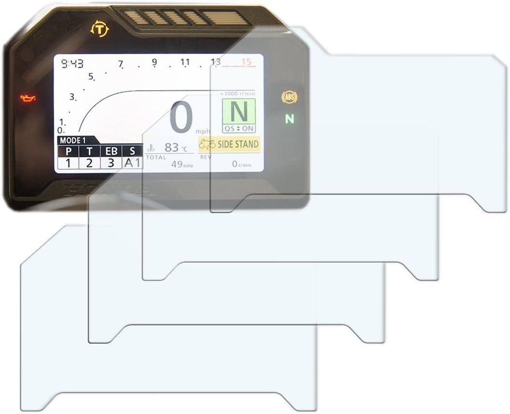 Fireblade CBR1000RR 2017 2 x Trasparente /& 2 x Anti-Riflesso Cruscotto Proteggi Schermo