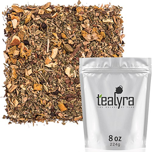 Tealyra - Holistic Health Tea - Turmeric Healthy Tonic - Ginger - Fennel - Cinnamon - Loose Leaf - Natural Weight Loss - All-In-One Wellness Blend - Anti-Inflammatory - Caffeine-Free - 224g (8-ounce)