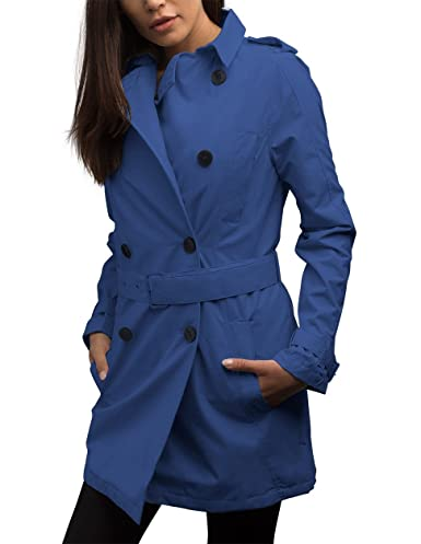 SCOTTeVEST Women's Trench Coat - 18 Pockets - Travel Clothing