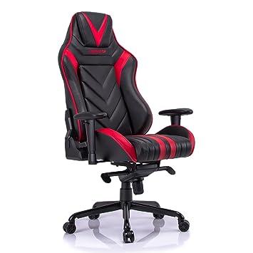 Amazoncom High Back Gaming Chair Reclining PU Leather Swivel