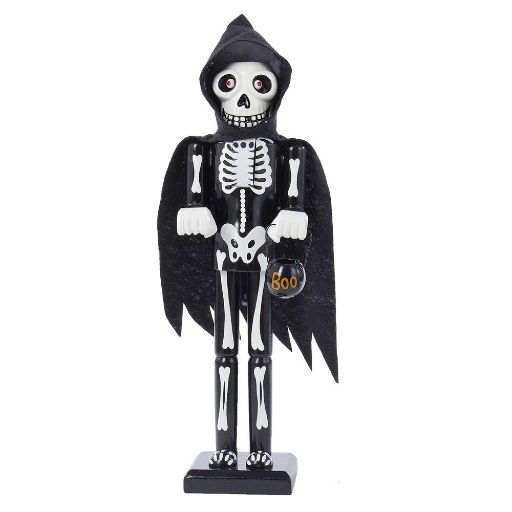 amazoncom kurt adler wooden halloween skeleton nutcracker 15 inch home kitchen - Halloween Skeleton