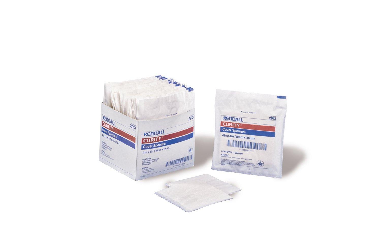 Kendall Curity Cover Sponges, 3'' x 3'', 40 bags-4000 sponges/ case