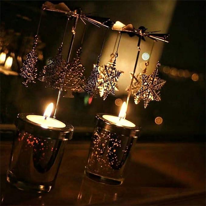 Cadeau de mariage Y-POWER Carrousel rotatif pour bougie chauffe-plat