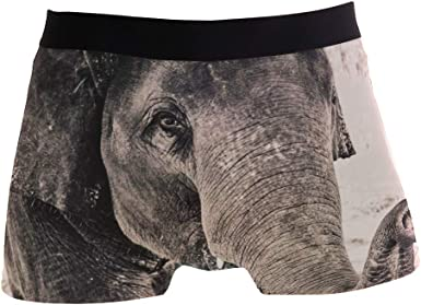 Grey Elephant Boxer Briefs for Men Mens Comfortable Underwear