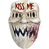 The Rubber Plantation TM 619219292146Purge Election year Kiss Me Mask Halloween costume travestimento horror Movie film Prop, unisex, taglia unica