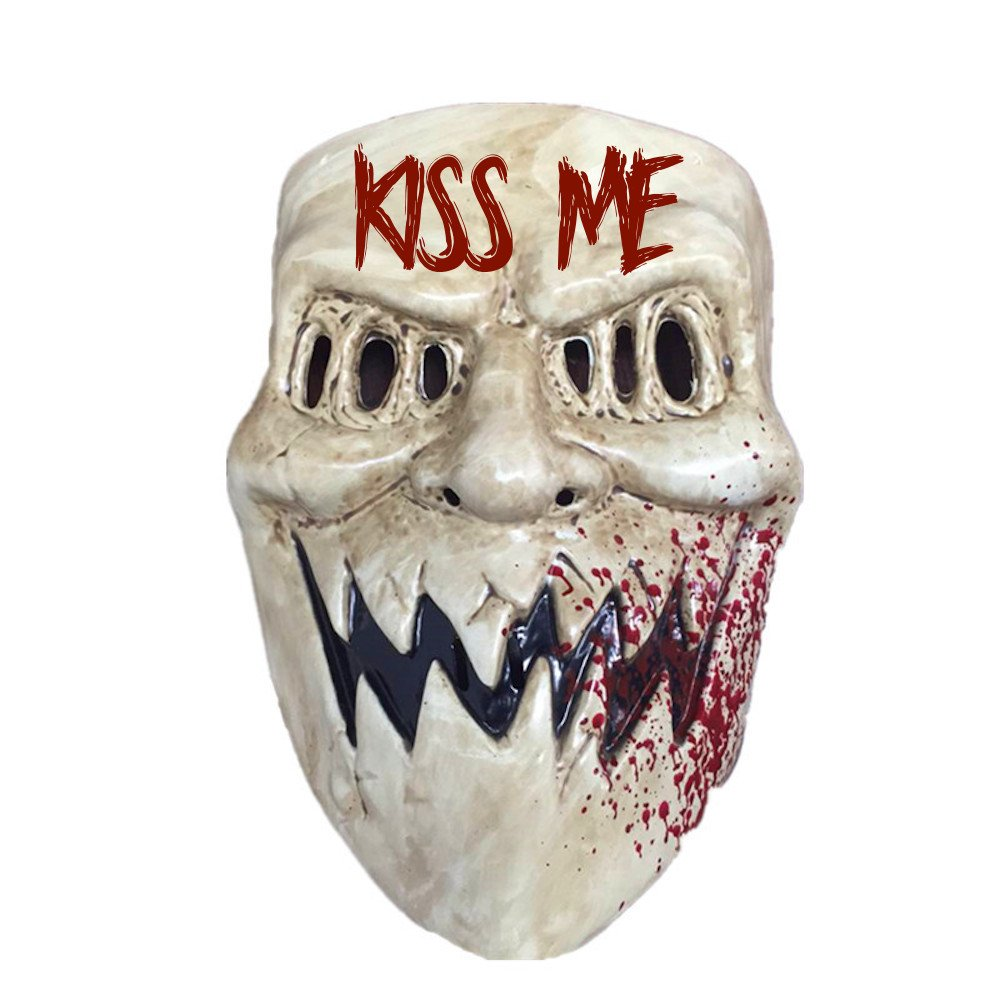 The Purge Kiss Me Mask Halloween Costume Accessory Election Year Sharp Teeth (Fits Men and Women) 619219291729