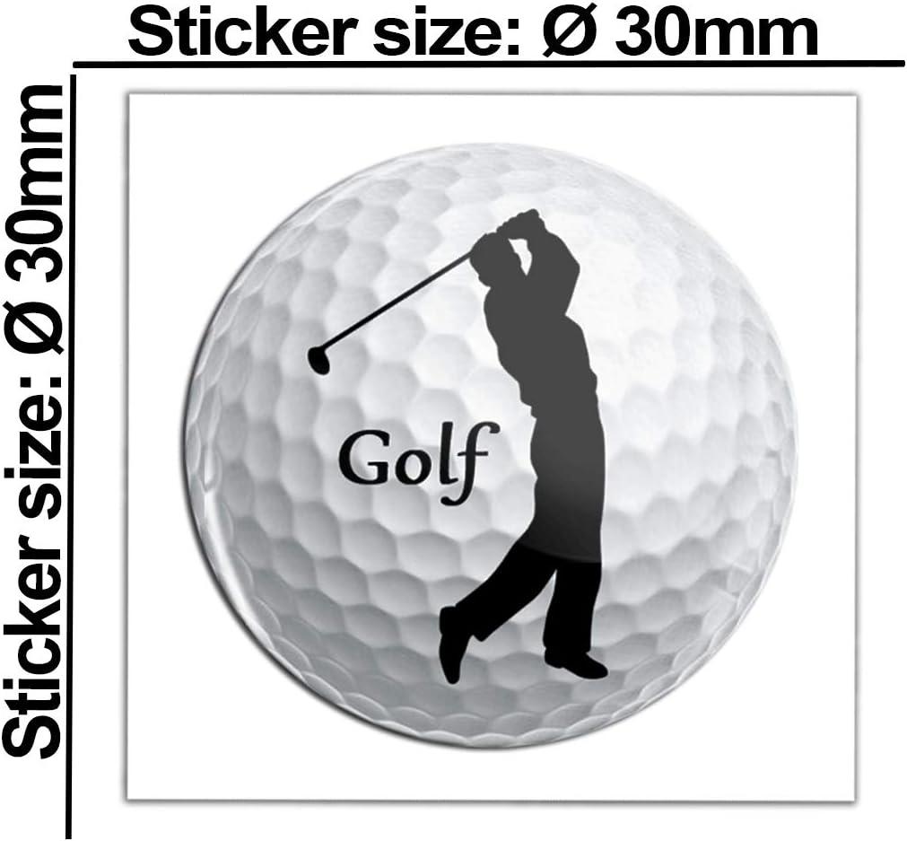 Skinoeu 2 X Aufkleber 3d Gel Silikon Stickers Golf Golfspieler Golfer Sport Auto Moto Motorrad Fahrrad Skate Fenster Tür Pc Tablet Laptop Ks 38 Auto