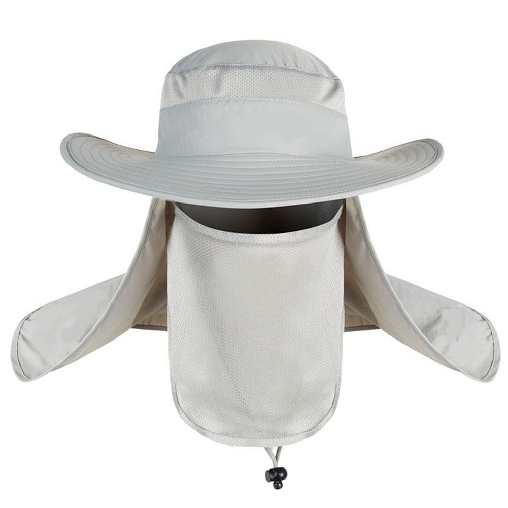 3fa34f55a12 Woopower Light Gray Outdoor Unisex Bucket Hat Men Women Large Brim Sun  Block Quick Drying Fishing Hats UV Protection Sun Cap Bucket Hat for Travel  Climbing