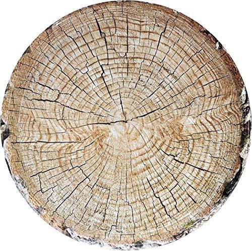 Cut Timber Round Platter (15