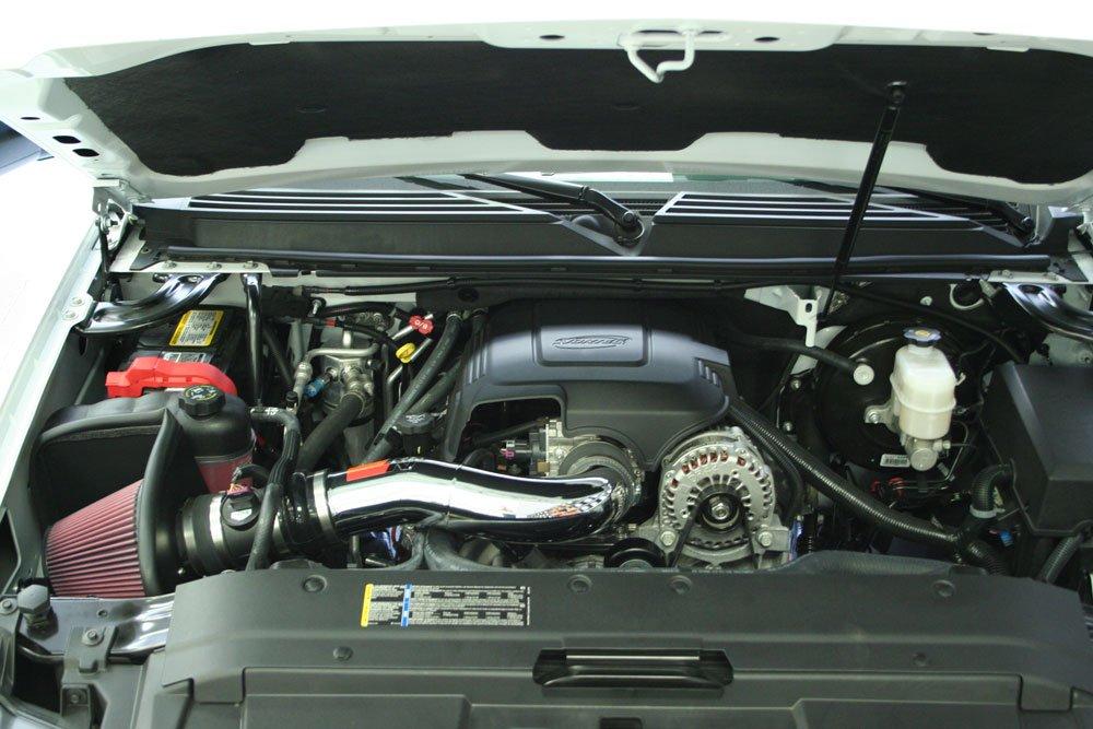 Red Filter V8 K/&N Cold Air Intake Kit with Washable Air Filter:  2007-2009 Chevy//GMC//Cadillac Cheyenne 2500, Avalanche, Silverado 1500, Suburban 1500, Taho, Sierra 1500, Yukon, Escalade 77-3058KP