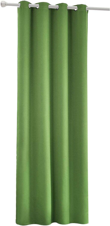 Laneetal Cortinas de Sal/ón Moderno Opacas Aislantes luz Suaves 1 Pieza Evitar Rayos UV Proteccion Privacidad con Ojales para Salon Cocina Habitacion 135x175cm Color Marr/ón