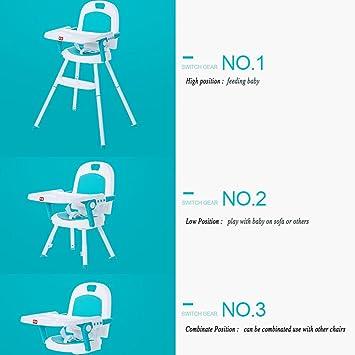 Tres en Uno ajustable bebé Trona multifunción plegable portátil silla de comedor: Amazon.es: Bebé