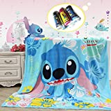 "Blaze Childrens Cartoon Printing Blanket Coral Fleece Blanket 59 By 79"" (Stitch)"