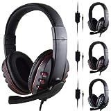 Fone Gamer Ps4 X-one Headphone Microfone Pc Celular P3 (VERMELHO)