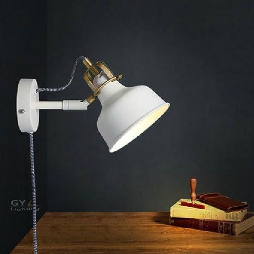 Moderno e di colore bianco lampada da parete con cavo di