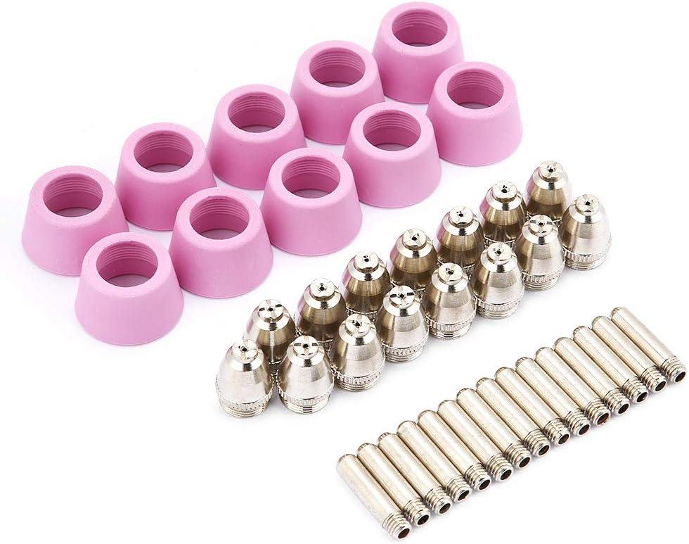 Fydun Plasmaschneider D/üse 40 St/ück//Set f/ür AG60 SG55 Schneidbrenner Zubeh/ör Verbrauchsmaterialien Elektrodend/üsen Tassen Kit