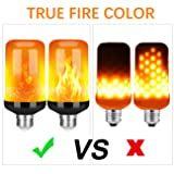 Y- STOP LED Flame Effect Fire Light Bulb - Upgraded 4 Modes Flickering Fire Christmas Decorations Lights - E26 Base Flame Bulb with Upside Down Effect