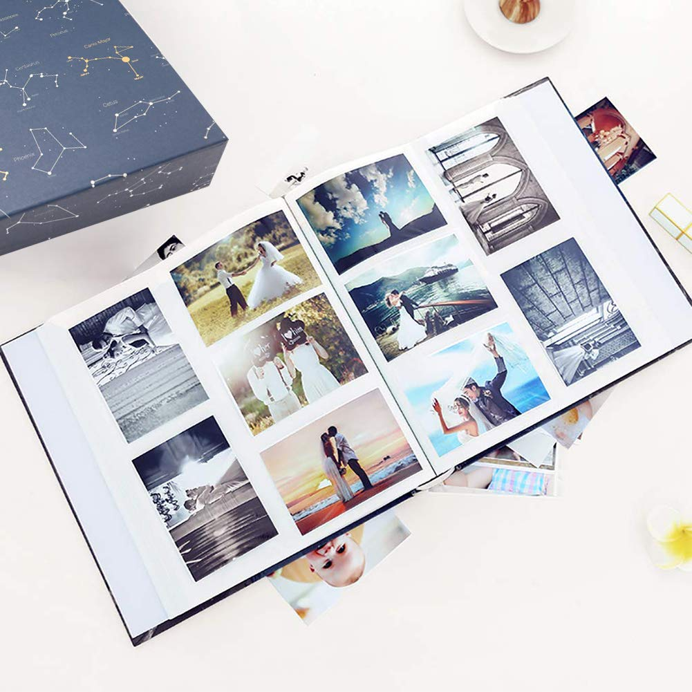 ZZKOKO Photo Album 4x6, 800 Photos Large Baby Kids Family Photo Albums, 5 Per Page Blue Album Wedding Gift Valentines Day Present by ZZKOKO (Image #7)