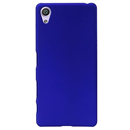 pretty nice b3d54 94ee8 Johra for Vivo Y51L Back Cover, Slim Matte Finish Rubberized Dark Blue Hard  Back Case Cover for Vivo Y51L Back Cover