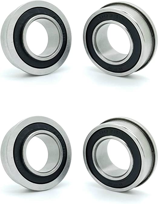 Bearing Industrial Products 1 Pc DINGGUANGHE-CUP Flanged Bearings Ball Bearings with Flanged for Wheelbarrow Garden Trolley 15x35x11mm