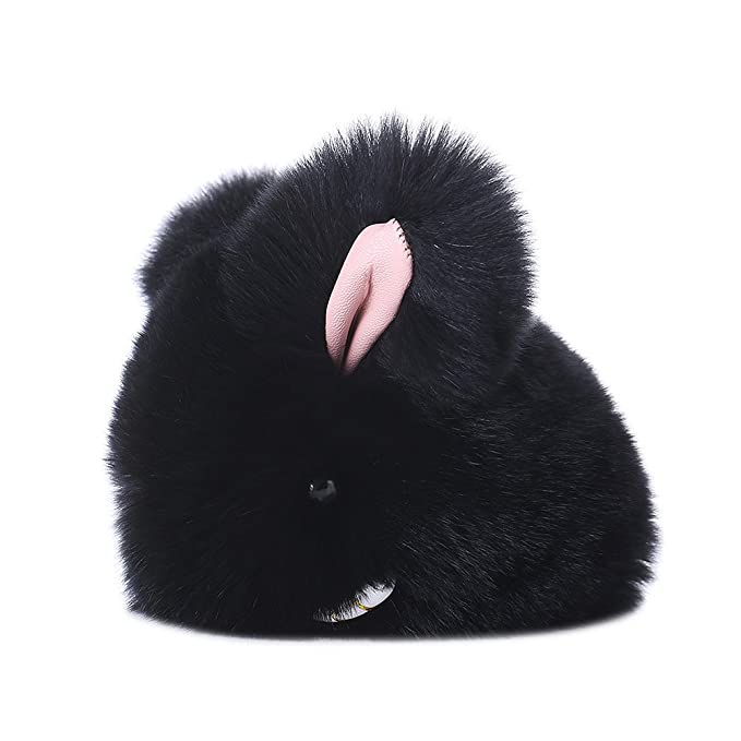 Amazon.com: baobao conejo Rex Rabbit Fur Pompom Ball muñeca ...