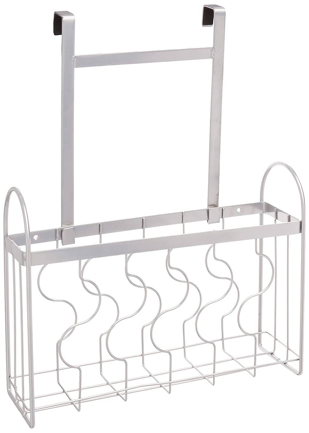 ZESPROKA Over the Cabinet Door Organizer Holder, Silver ZP-10
