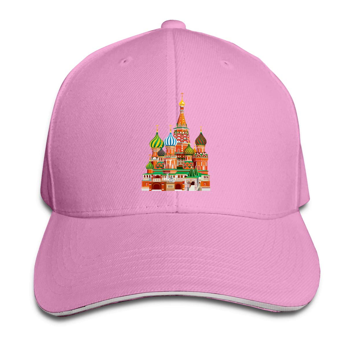 Color Russian Architecture Classic Adjustable Cotton Baseball Caps Trucker Driver Hat Outdoor Cap Pink
