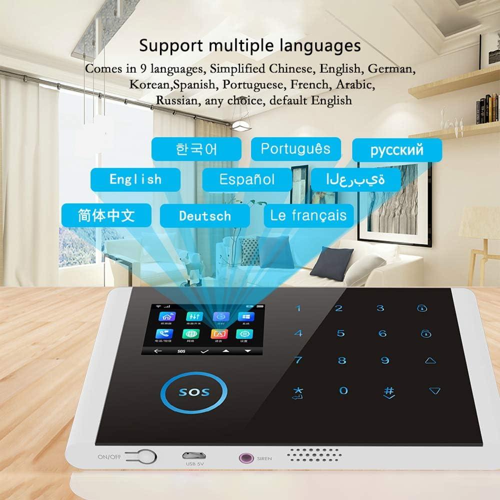 Hopcd Sistema di Allarme gsm per Android per Controllo App iOS modulo di Allarme Wireless 3G a 8 ingressi Supporto del Sistema di Allarme gsm UMTS//gsm//Edge Frenquency