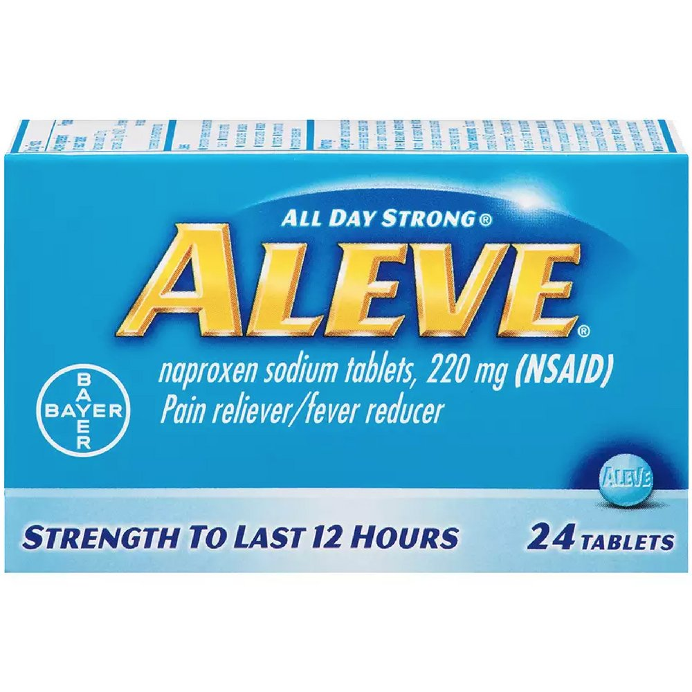 Aleve Pain Reliever/Fever Reducer Tablets, 24 ea (Pack of 3)