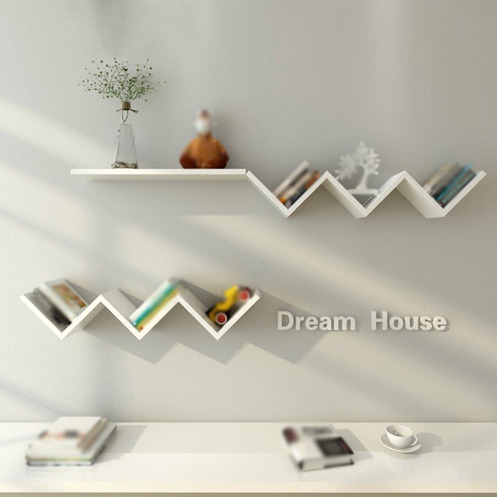 Wall-mounted Shelf / wall-mounted Flower shelf / clapboard W-shelf / bedroom Living room TV wall unit / wall-mounted Shelves / Bedroom wall-mounted storage rack /(8015cm)