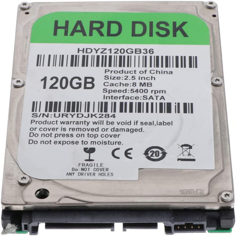D DOLITY 120GB 2.5inch SATA Internal Hard Disk Drive HDD for PC Laptop
