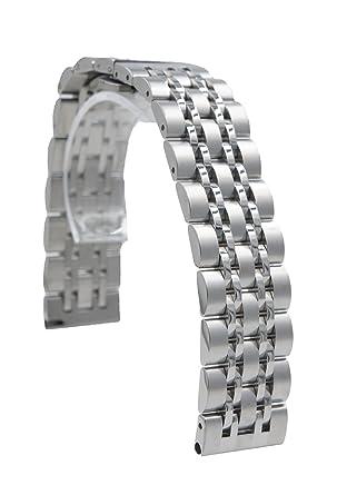 Amazon.com: 20 mm Acero Inoxidable Pulsera Reloj Banda ...