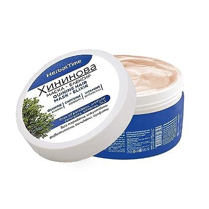 Mascarilla Capilar de Quinina Tratamiento Anticaida de Cabello Sin Parabenos Sin Siliconas Sin Sulfatos