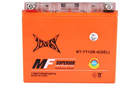 TMS ct12b-4 gt12b-4 YT12B-4 YT12B-BS motocicleta Gel batería ...