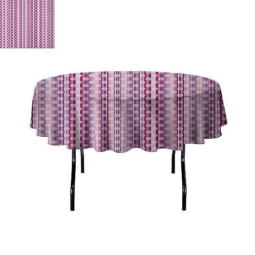 Curioly Mantel Lavable, diseño de Mandala Morada, Redondo ...