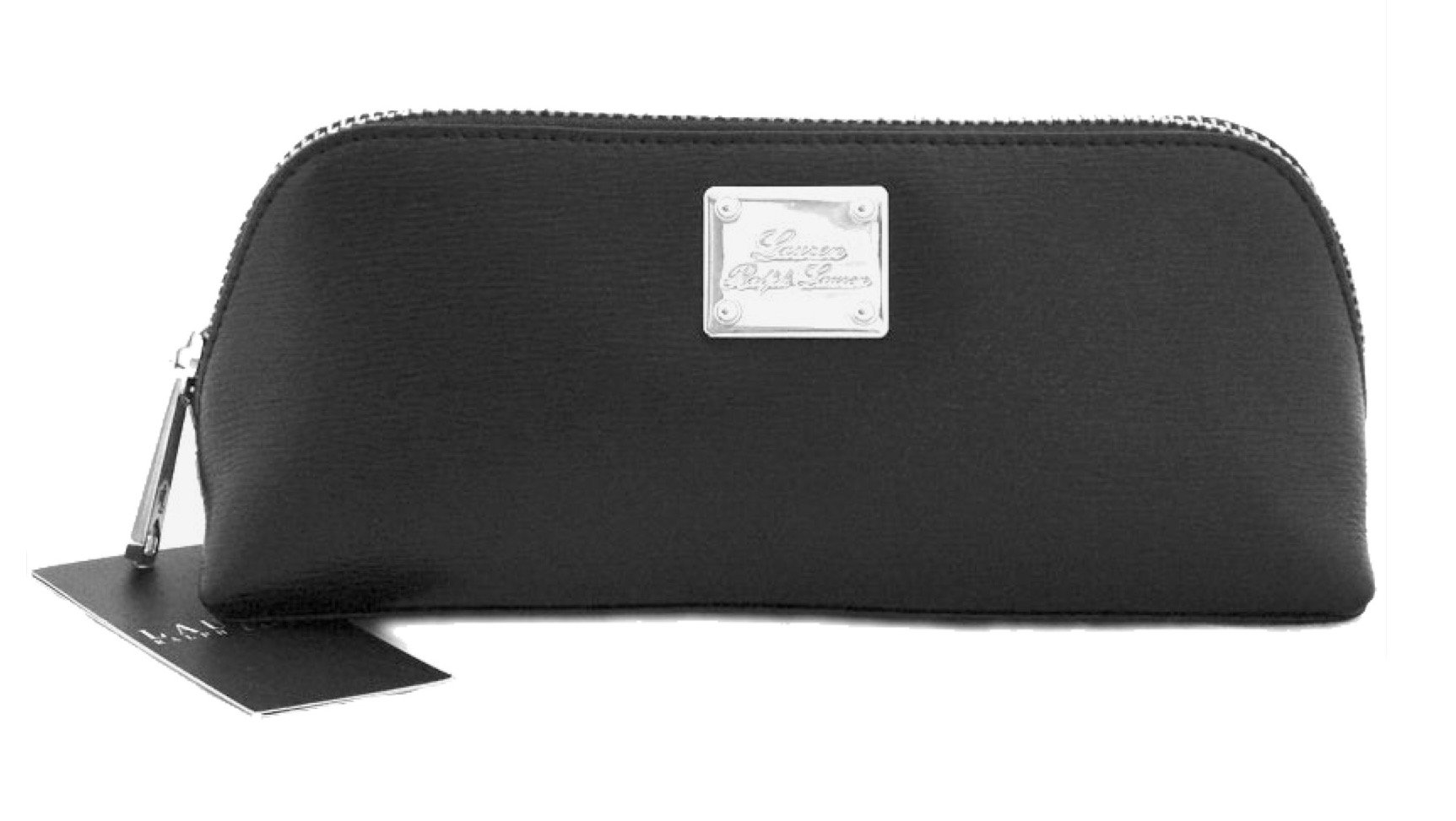 Lauren Ralph Lauren SLOAN STREET Small Triangle Leather Cosmetic Case Black by LAUREN RALPH LAUREN