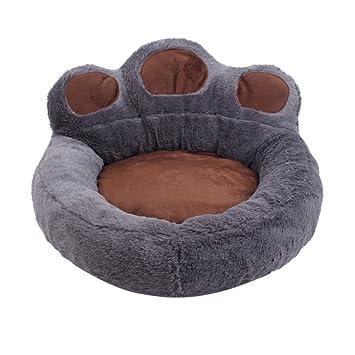 URIJK - Cama redonda para perro con forma de huella – Cubo de plato profundo con