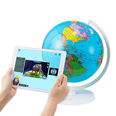 Oregon Scientific Inflatable Globe w/Augmented Reality Technology SG038R | STEM Certified Kids Toy | Explore 220+ Countries | Learning Educational World Geography (Age 3+): Office Products