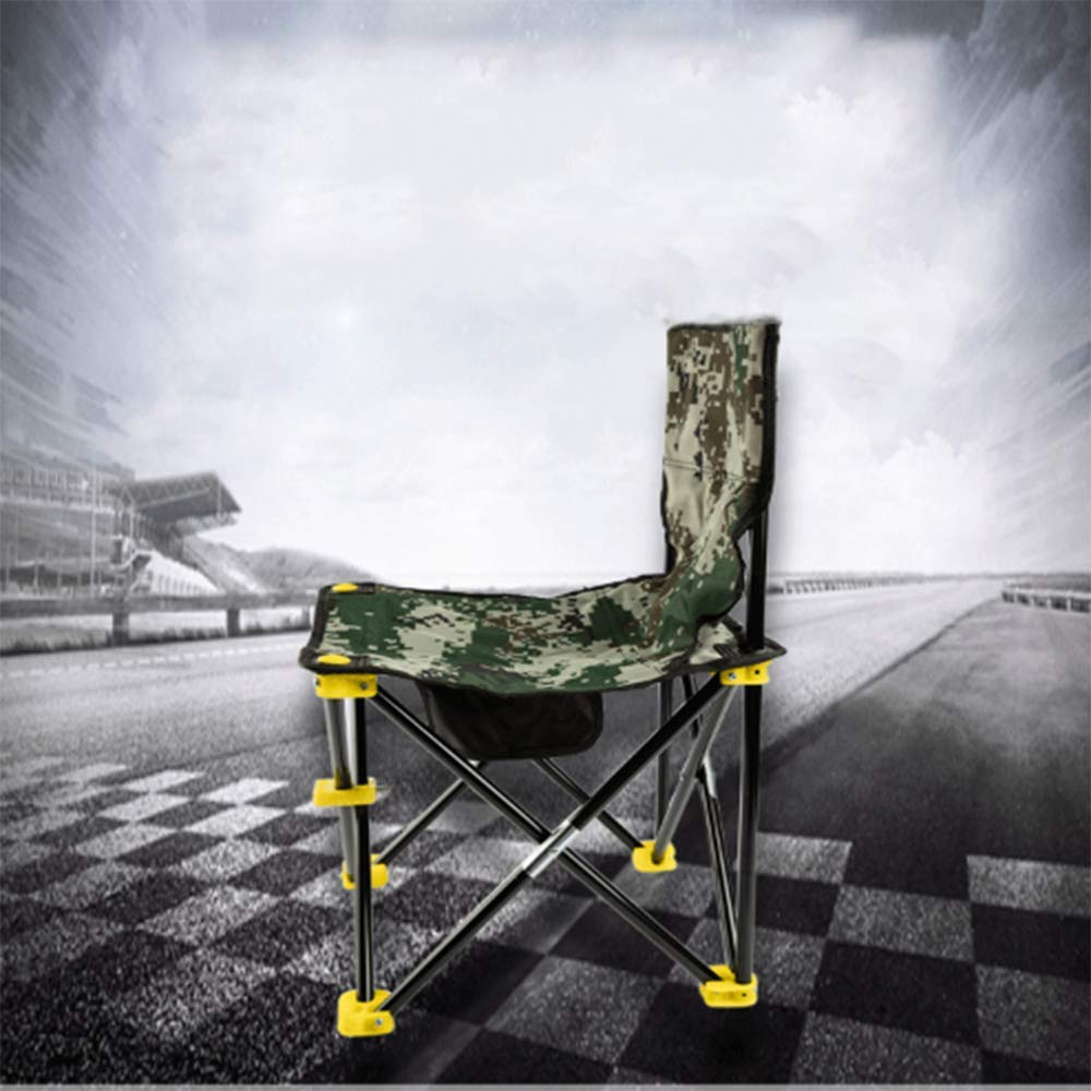 ZHANGJN Outdoor Camp Folding Chairs Ultralight Camouflage Portable Fishing Chairs with Armrest for Festival, Beach, Hikin-A by ZHANGJN