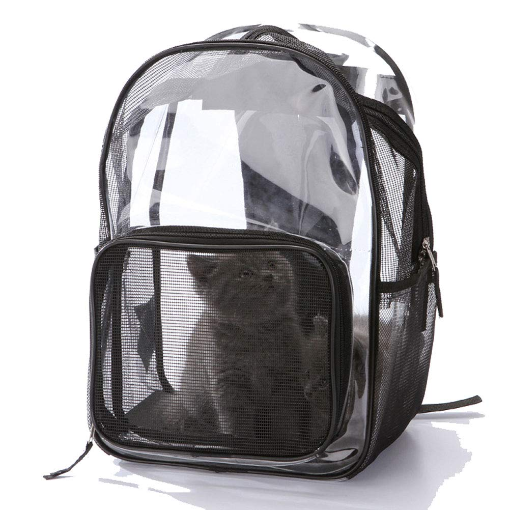 Pet Carrier Backpack Transparent Bag for Small Dogs, Cats, Puppies, Kittens, Pets