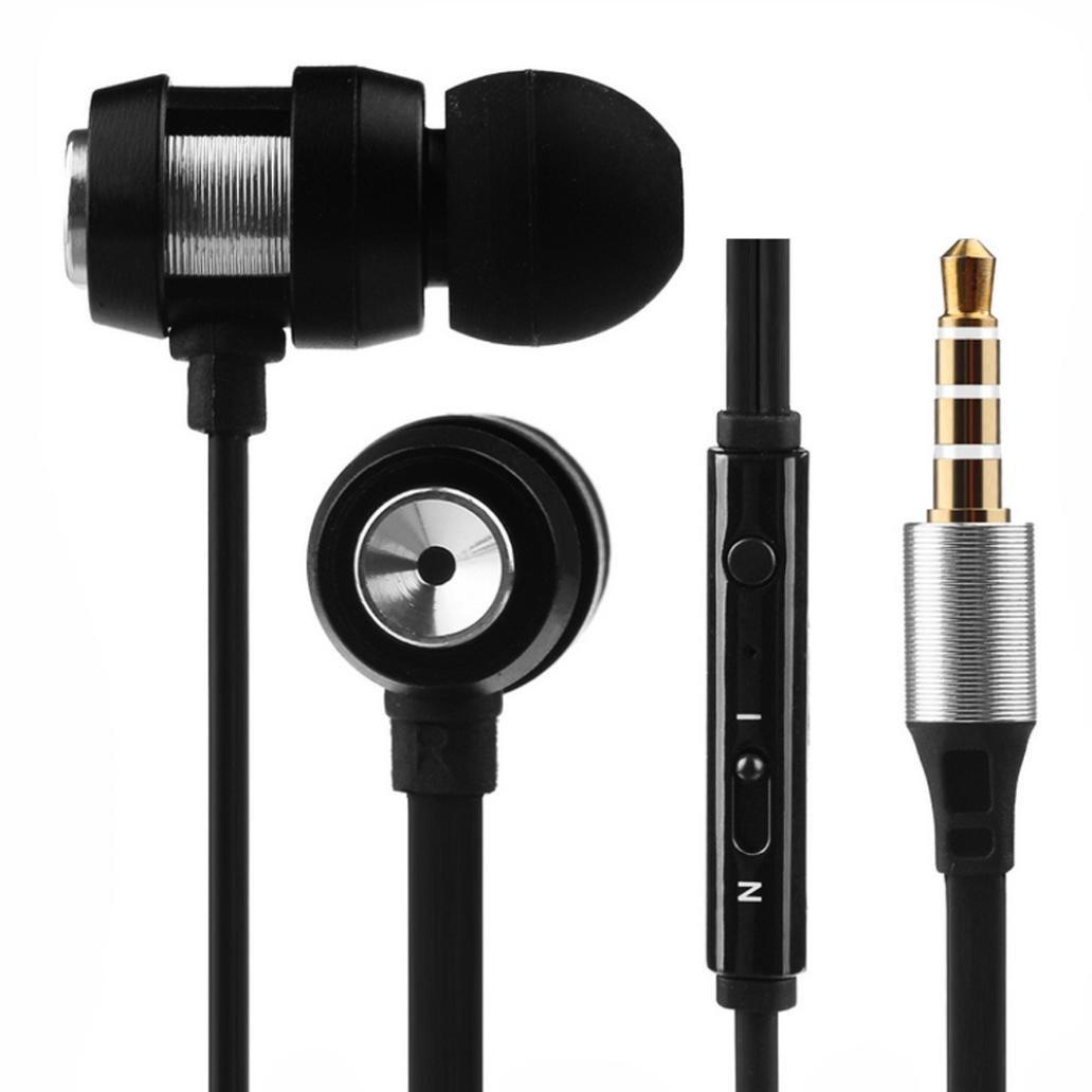 Auriculares con micrófonos , Amlaiworld Auriculares deportivos Auriculares In-Ear Estéreo con Micrófono con cable 3.5mm de alta calidad deportivos para ...