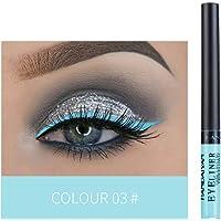 walmeck HANDAIYAN Colorful Liquid Eyeliner Matte Tint Long Lasting Waterproof Makeup Easy To Wear Eye Liner Liquid Eyeshadow Cosmetics Smooth Tool (3#)