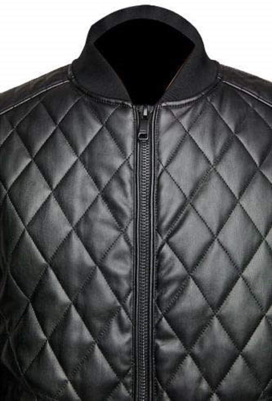 Mens Cafe Racer Slim Fit Biker Real Sheep Skin Black Leather Jacket