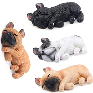 MonLiya 4 Pack 3D Refrigerator Magnetic French Sleeping Bulldog Fridge Magnets Sticker Office Magnet,Kitchen Toy Decor Fridge Ornament,For Whiteboard,Map,Notes,Gift for Christmas,Gifts